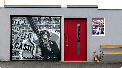 Eingang zum Johnny Cash Museum in Riedlingdorf